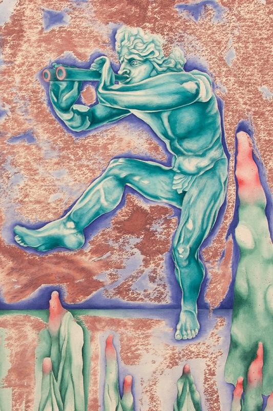Ilustracja dekoracyjna. Baner zapraszający na wystawę Czysty kryształ.
