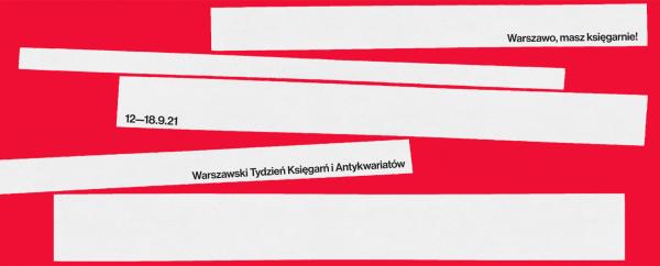 Ilustracja dekoracyjna. Baner Warszawskiego Tygodnia Księgarń i Antykwariatów