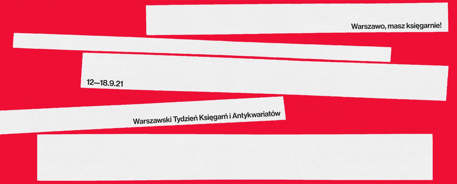 Obraz w sliderze - Warszawski Tydzień Księgarń i Antykwariatów 2021
